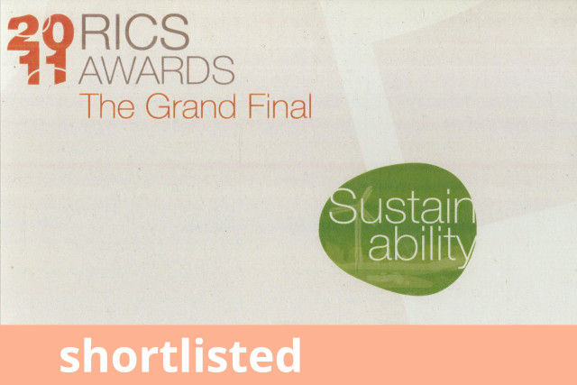 RICS Awards, Finalist 2011