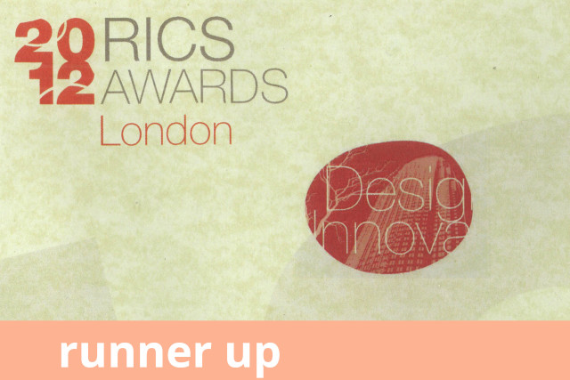 RICS London Awards, Design and Innovation, Highly Commended 2012