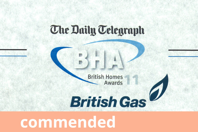 Daily Telegraph British Homes Award, Best Small House, Commended 2011