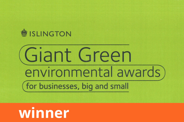 Islington Council Giant Green Environmental Awards, Environmental Champion, Winner 2009