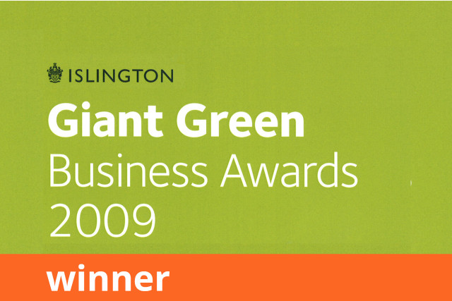 Islington Council Green Giant Business Awards, Winner 2009